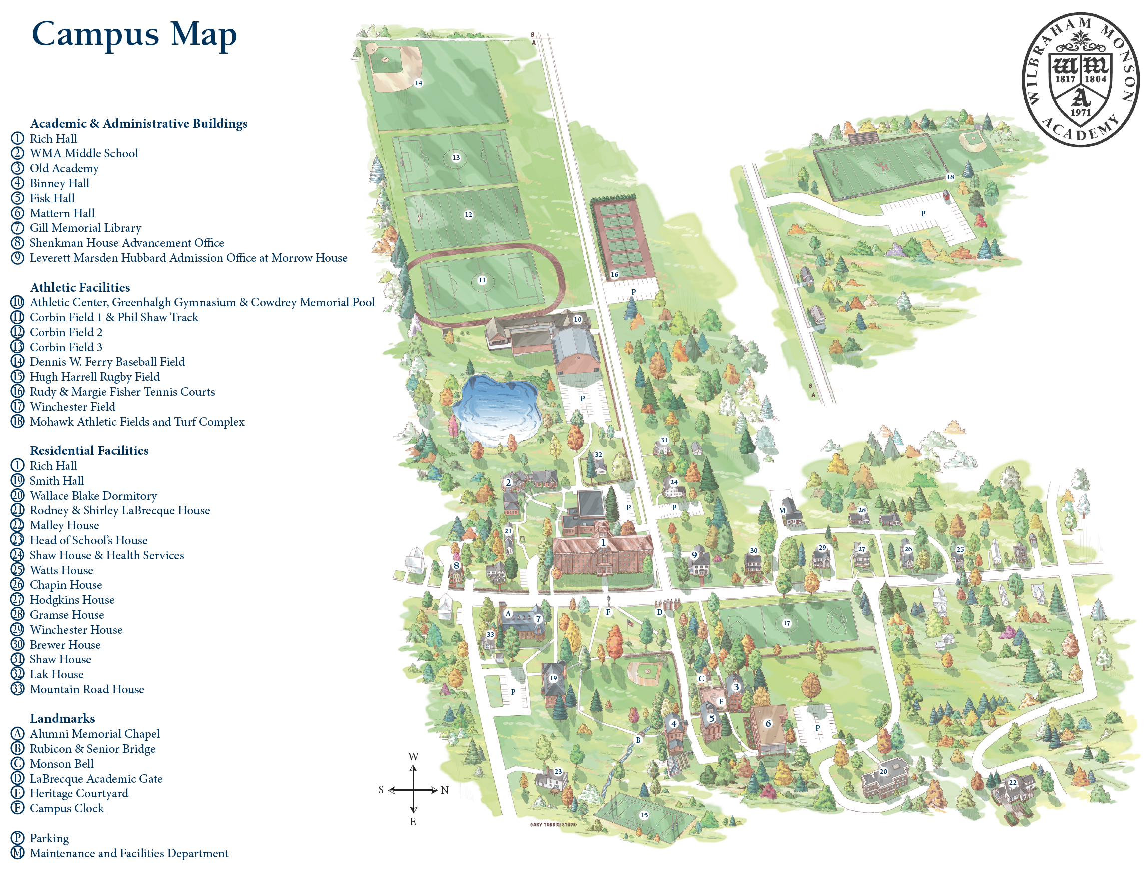 Hobart And William Smith Campus Map.Wilbraham Monson Academy College Counseling