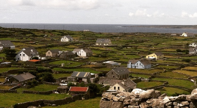 Overlooking Inisheer, the smallest and most eastern of the three Aran Islands in Galway Bay.