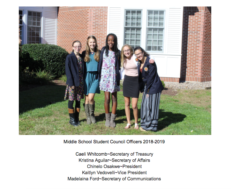 middle school class officers
